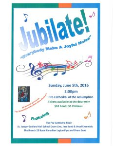 Pro Cathedral Concert Sunday June 5 2016 2pm Letter Size